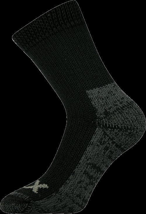 Ponožky alpin černá velikost 29-31 (43-46), 1pár