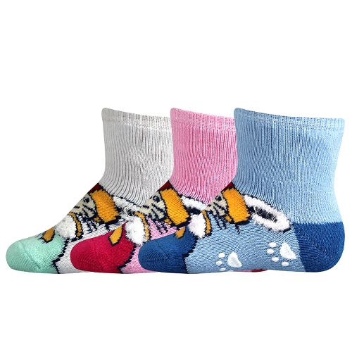 Ponožky bobíček abs mix velikost 9-11 (14-16), 3páry