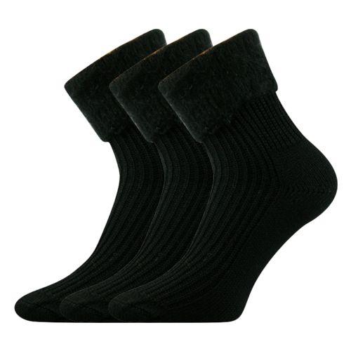 Ponožky česana černá velikost 26-28 (39-42), 3páry