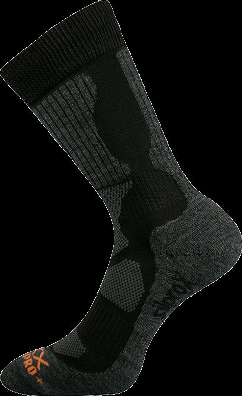 Ponožky etrex černá velikost 29-31 (43-46), 1pár