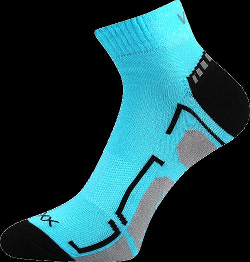 Ponožky flash neon tyrkys velikost 29-31 (43-46), 3páry