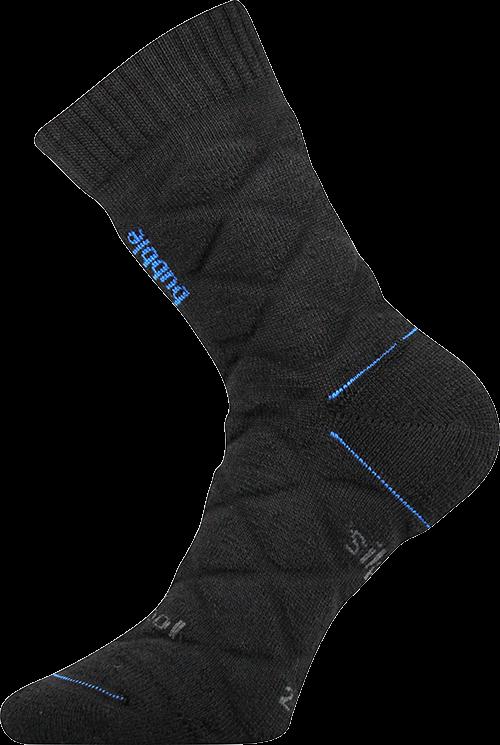 Ponožky force černá velikost 29-31 (43-46), 1pár
