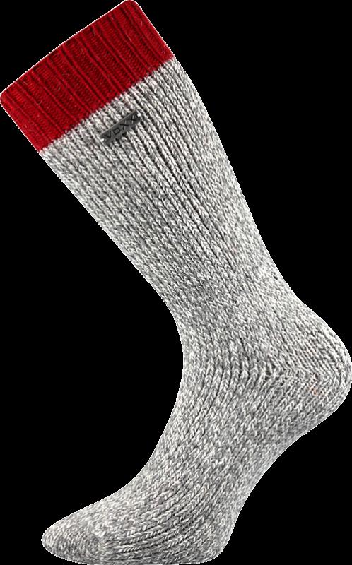 Ponožky haumea tmavě červená velikost 29-31 (43-46), 1pár