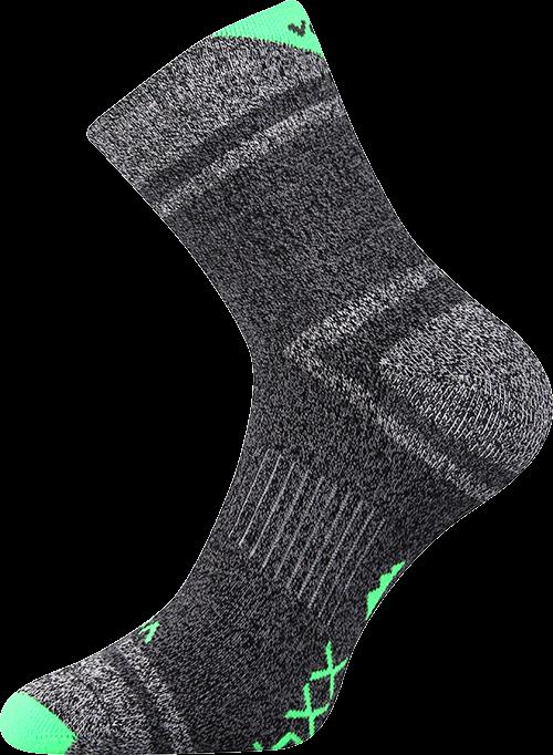 Ponožky hawk neon zelená velikost 29-31 (43-46), 1pár