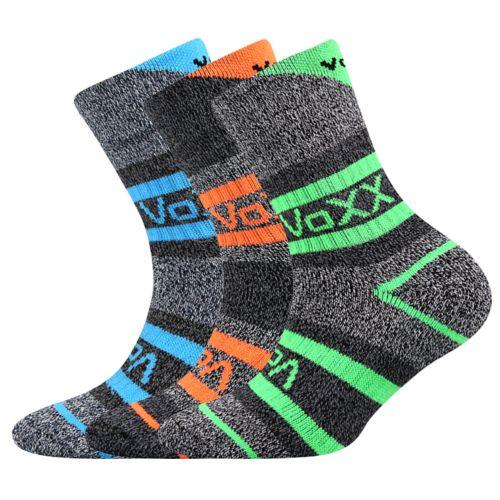 Ponožky hawkik mix kluk velikost 23-25 (35-38), 3páry