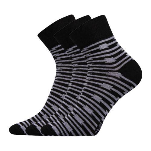 Ponožky ivana 39 mix 39 černá velikost 26-28 (39-42), 3páry