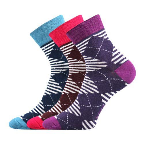 Ponožky ivana 45 mix 45 velikost 26-28 (39-42), 3páry