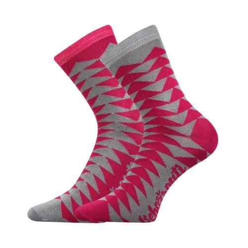 Ponožky li002d trojúhelníky velikost 23-27 (35-41), 1pár