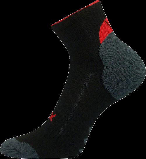 Ponožky magnum černá 2 (černo-červená) velikost 23-25 (35-38), 1pár