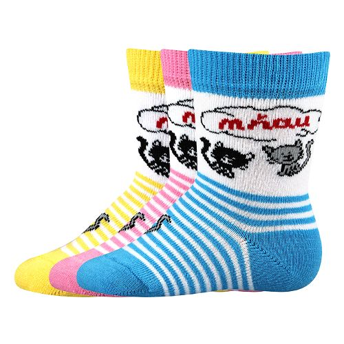 Ponožky mia mix velikost 12-14 (18-20), 3páry