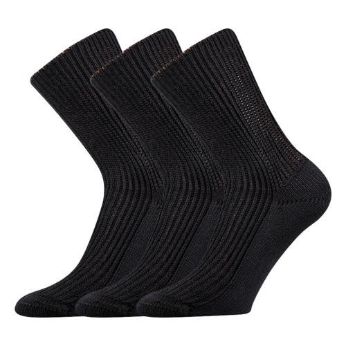 Ponožky pepina černá velikost 31-32 (47-48), 3páry