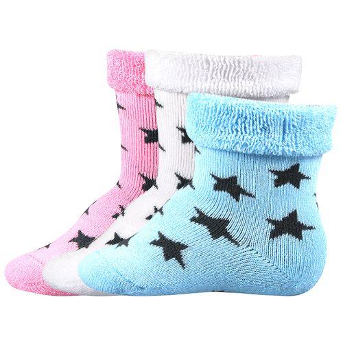 Ponožky pihu mix velikost 12-14 (18-20), 3páry