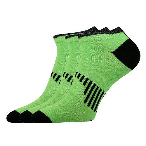 Ponožky piki 20 20 neon zelená velikost 26-28 (39-42), 3páry