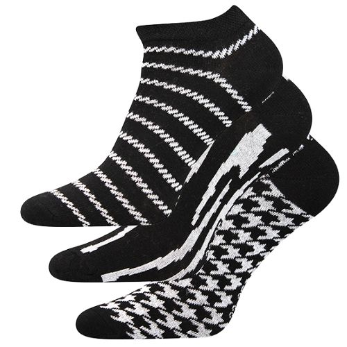 Ponožky piki 34 mix 34 černá velikost 26-28 (39-42), 3páry