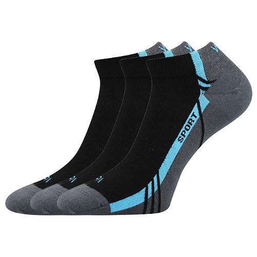 Ponožky pinas černá velikost 29-31 (43-46), 3páry