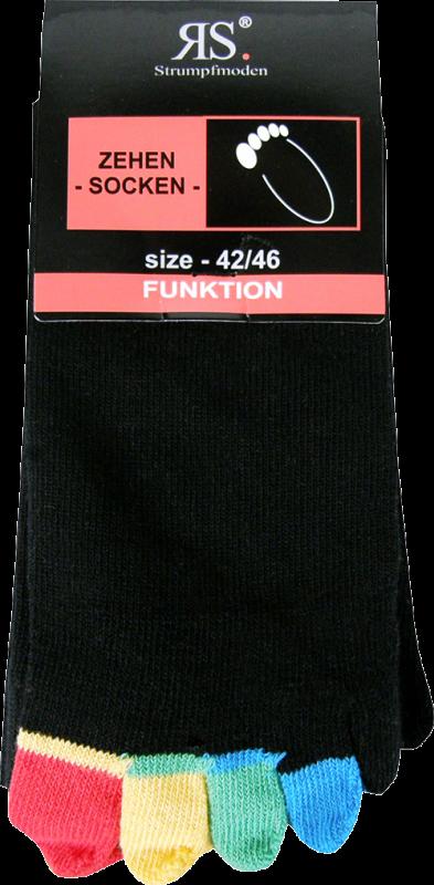 Ponožky prstové 55510 d barevné velikost 42-46, 1pár