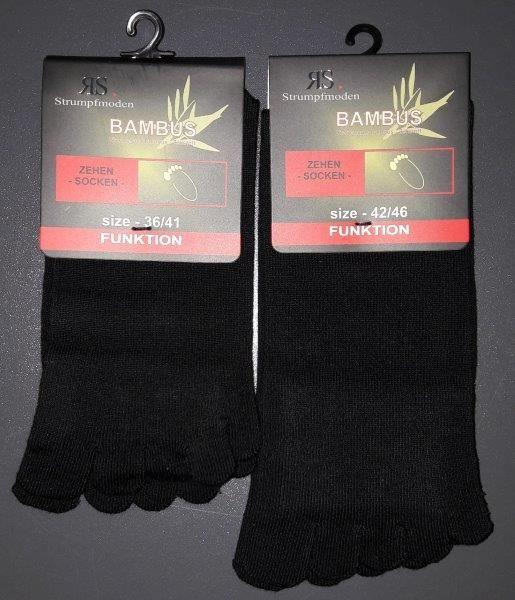 Ponožky prstové 55517 d černá velikost 42-46, 1pár