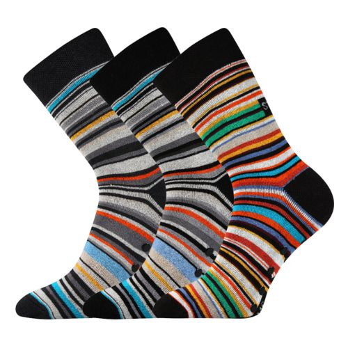 Ponožky pruhana abs ii mix II. velikost 26-28 (39-42), 3páry