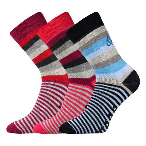 Ponožky pruhana abs mix velikost 26-28 (39-42), 3páry