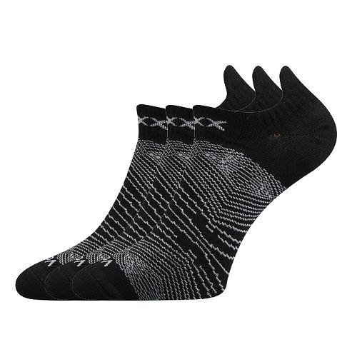 Ponožky rex 01 černá velikost 29-31 (43-46), 3páry