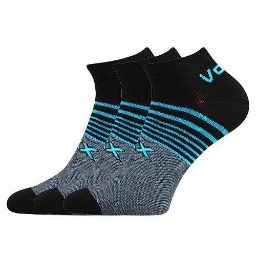 Ponožky rex 09 černá velikost 29-31 (43-46), 3páry