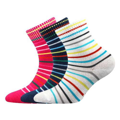 Ponožky ruby mix velikost 12-14 (18-20), 3páry