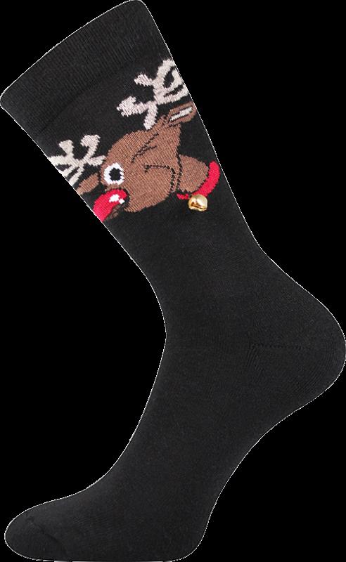Ponožky rudy černá velikost 28-31 (42-46), 1pár