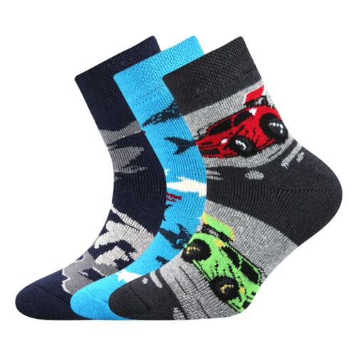 Ponožky sibiř dětská 04 mix 04 kluk velikost 20-22 (30-34), 3páry