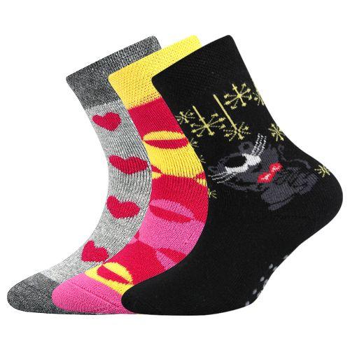 Ponožky sibiř dětská 05 abs mix holka velikost 23-25 (35-38), 3páry