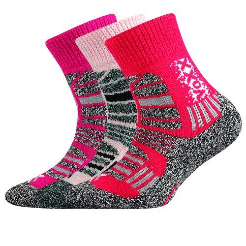 Ponožky traction dětská mix B velikost 23-25 (35-38), 3páry