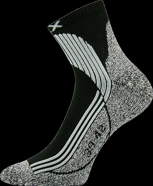Ponožky unica černá velikost 29-31 (43-46), 1pár