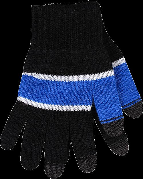 Rukavice dotykáček tmavě modrá velikost unisex, 1kus