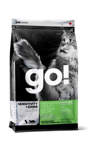 GO! Sensitivity+Shine Freshwater Trout+Salmon CAT 3,62 kg Petcurean GO!