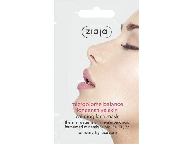 Pleťová maska Mikrobiome Balance zklidňující pro citlivou pleť 7ml Ziaja