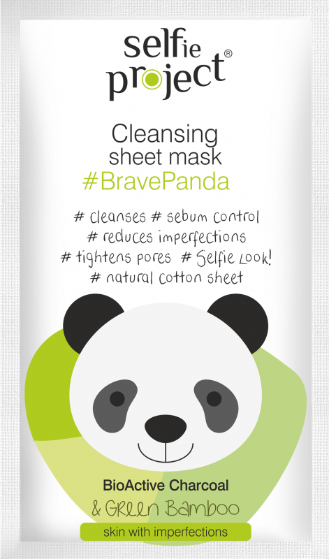 Selfie Project čistící textilní maska #BravePanda 15ml Maurisse