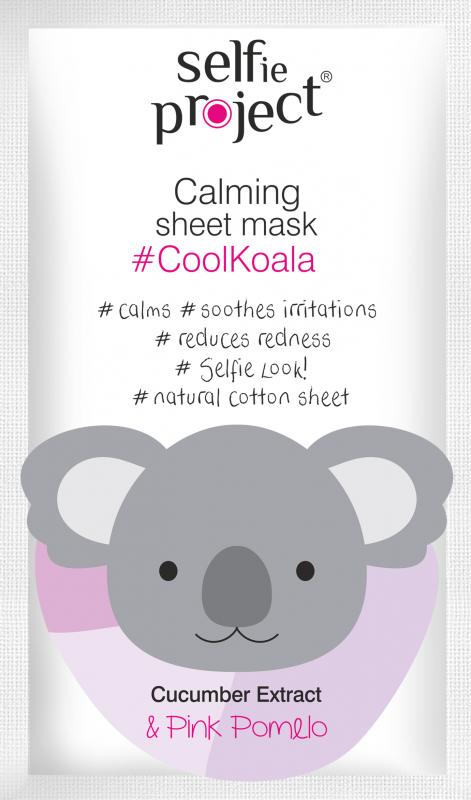 Selfie Project zklidňující textilní maska #CoolKoala 15ml Maurisse